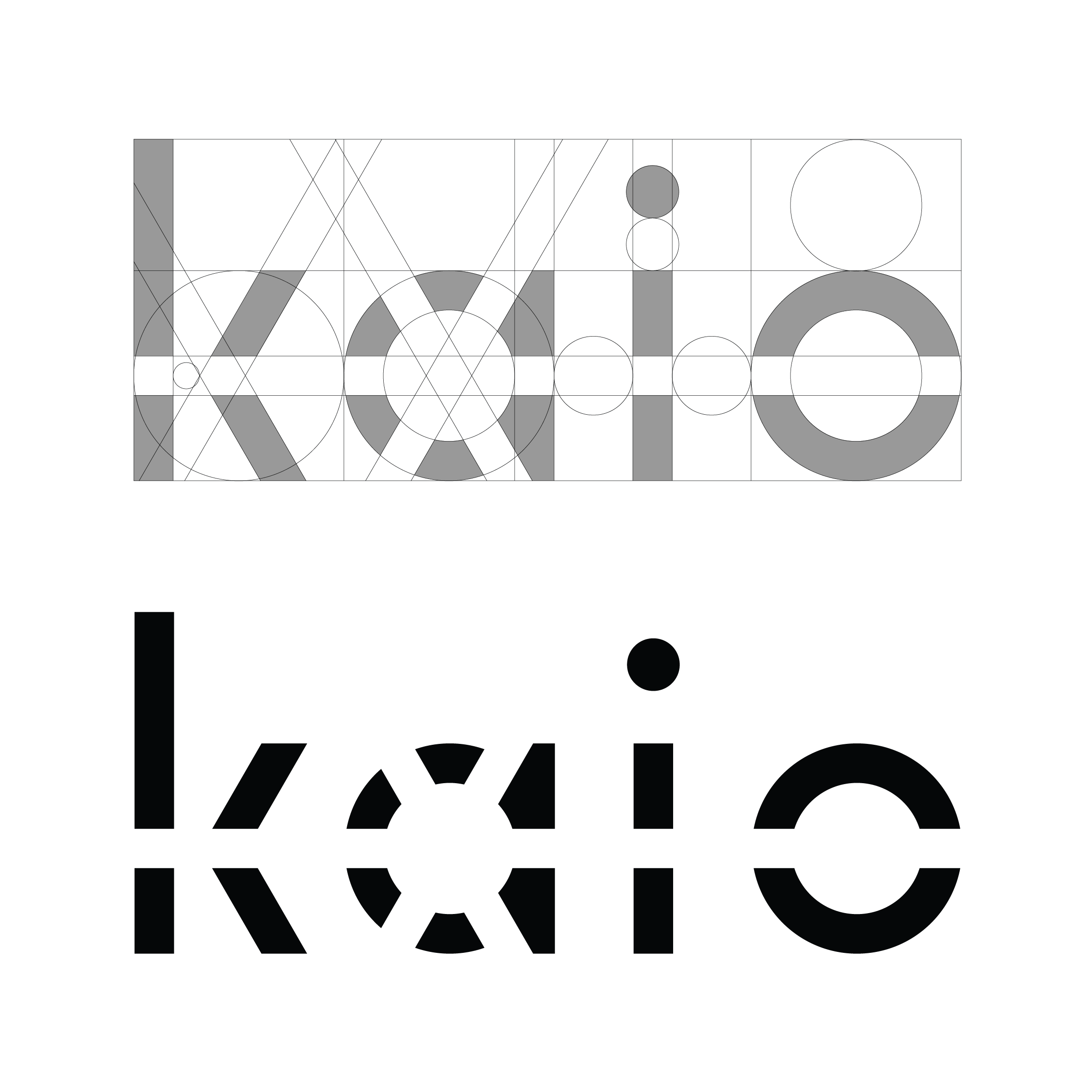 "The final name comes from the rare Finnish word kajo, which means the soft light just before sunrise. Similar word in English is be dawn. kajastus —> kajo —> kaio  The logo is a modern wordmark with a shape of the sun inside the ""A""."