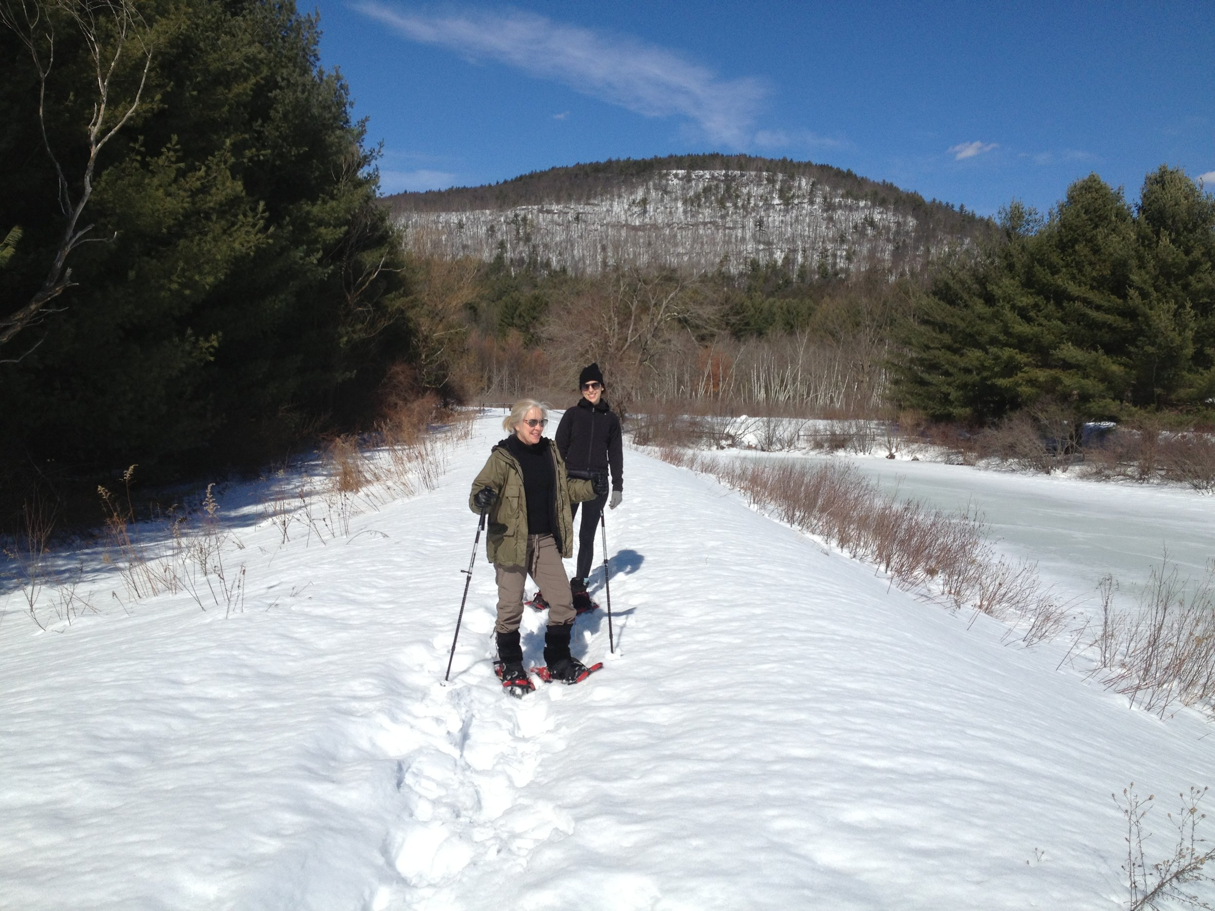 K. Wilson state park - A perfect place for snowshoeing. No entrance fee in the winter months. GPS: 859 Wittenberg Road, Mt. Tremper, NY 12457