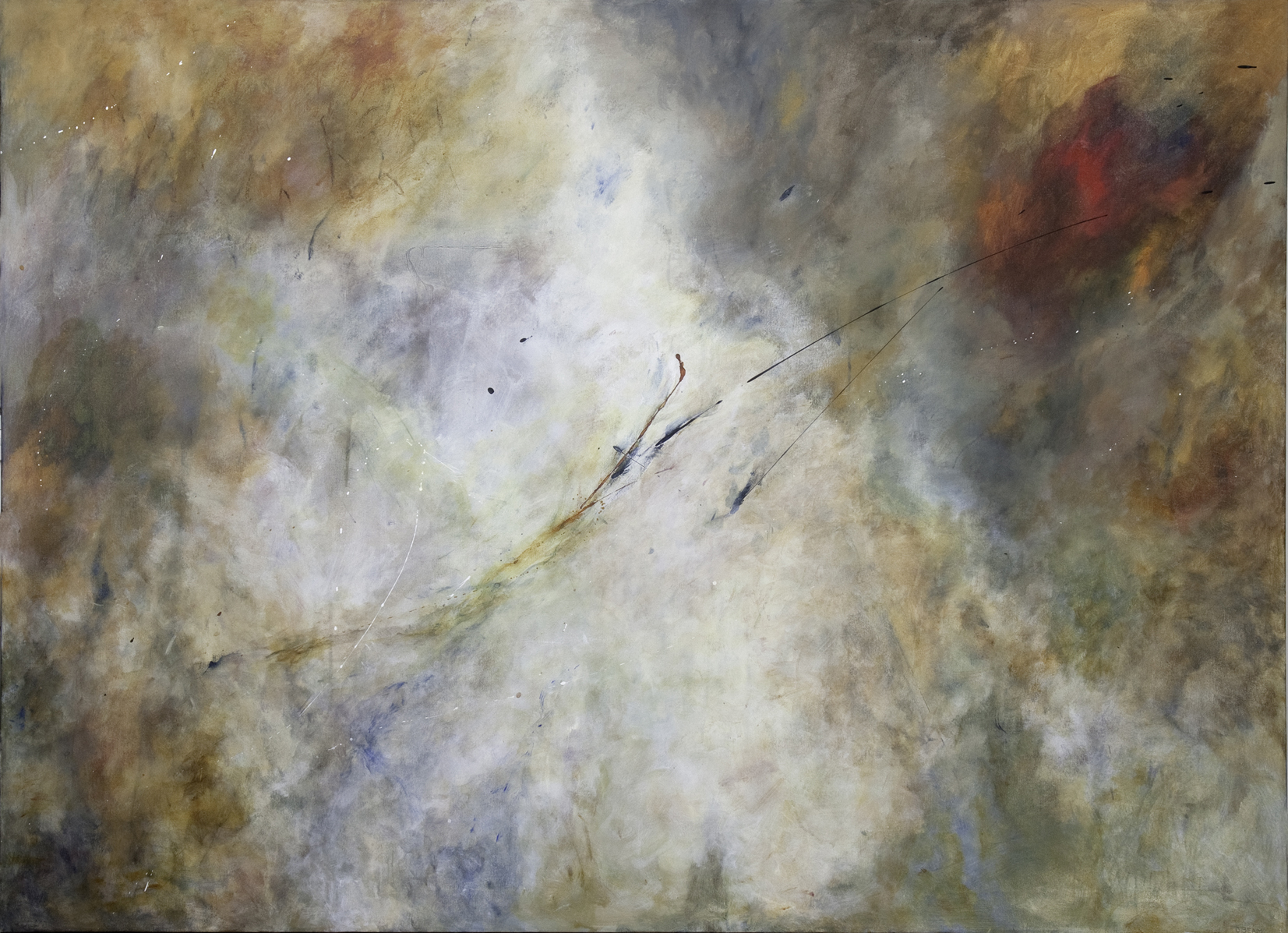FLIGHT OF PASSION   BY DAN BEAM, ACRYLIC ON CANVAS/ FROM THE PERSONAL COLLECTION OF KARYN BARSA