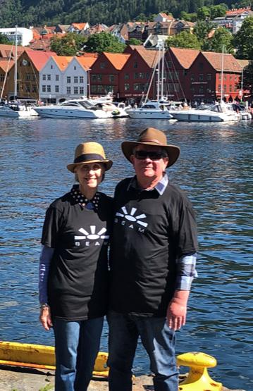 April & Ron Dammann - CaliforniaPhoto taken in Bergen, Norway
