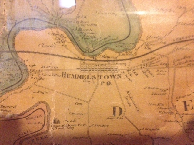 1862 Map of Hummelstown and vicinity