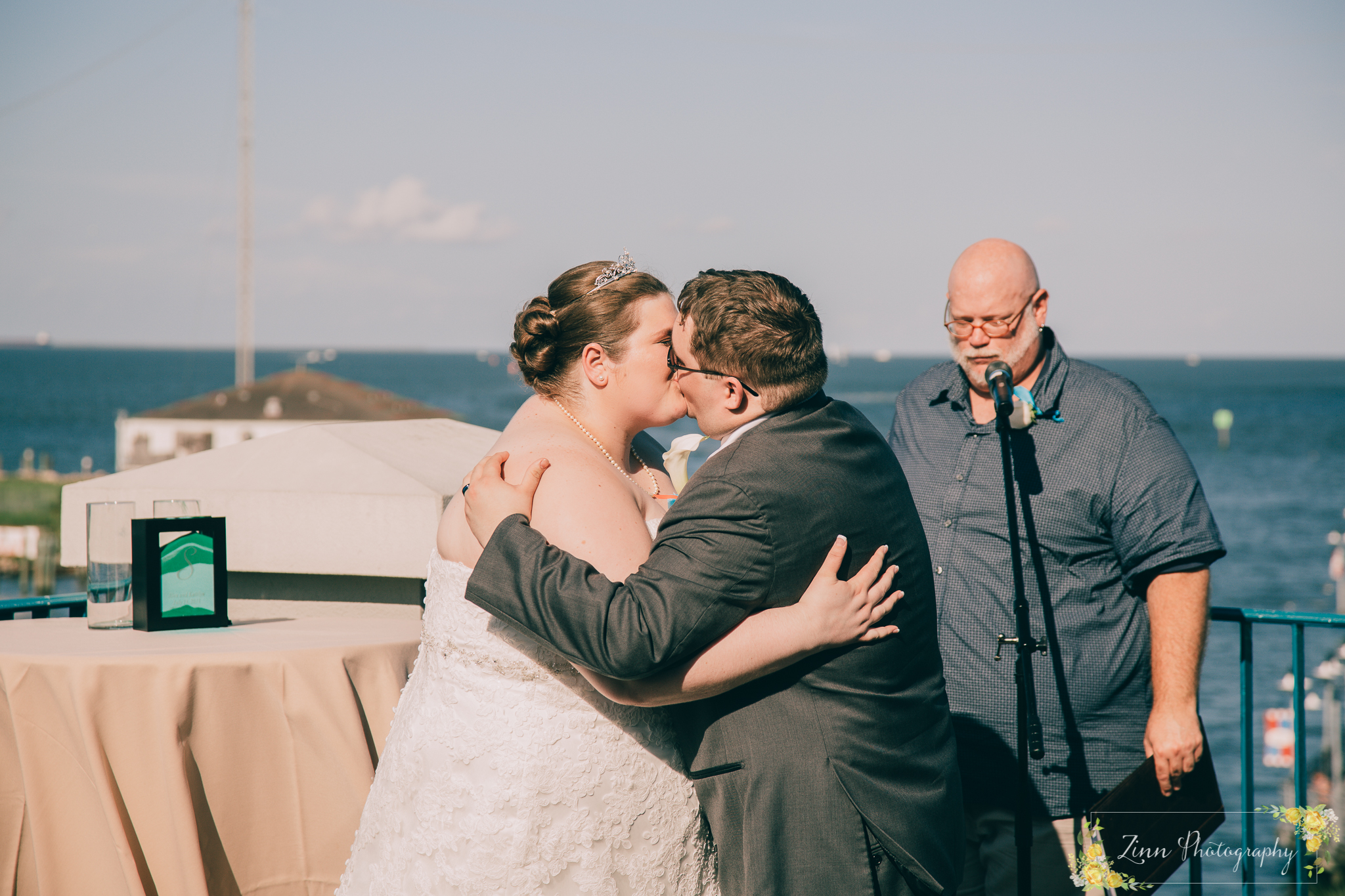 The First Kiss! Wedding Photography By Lauren Zinn