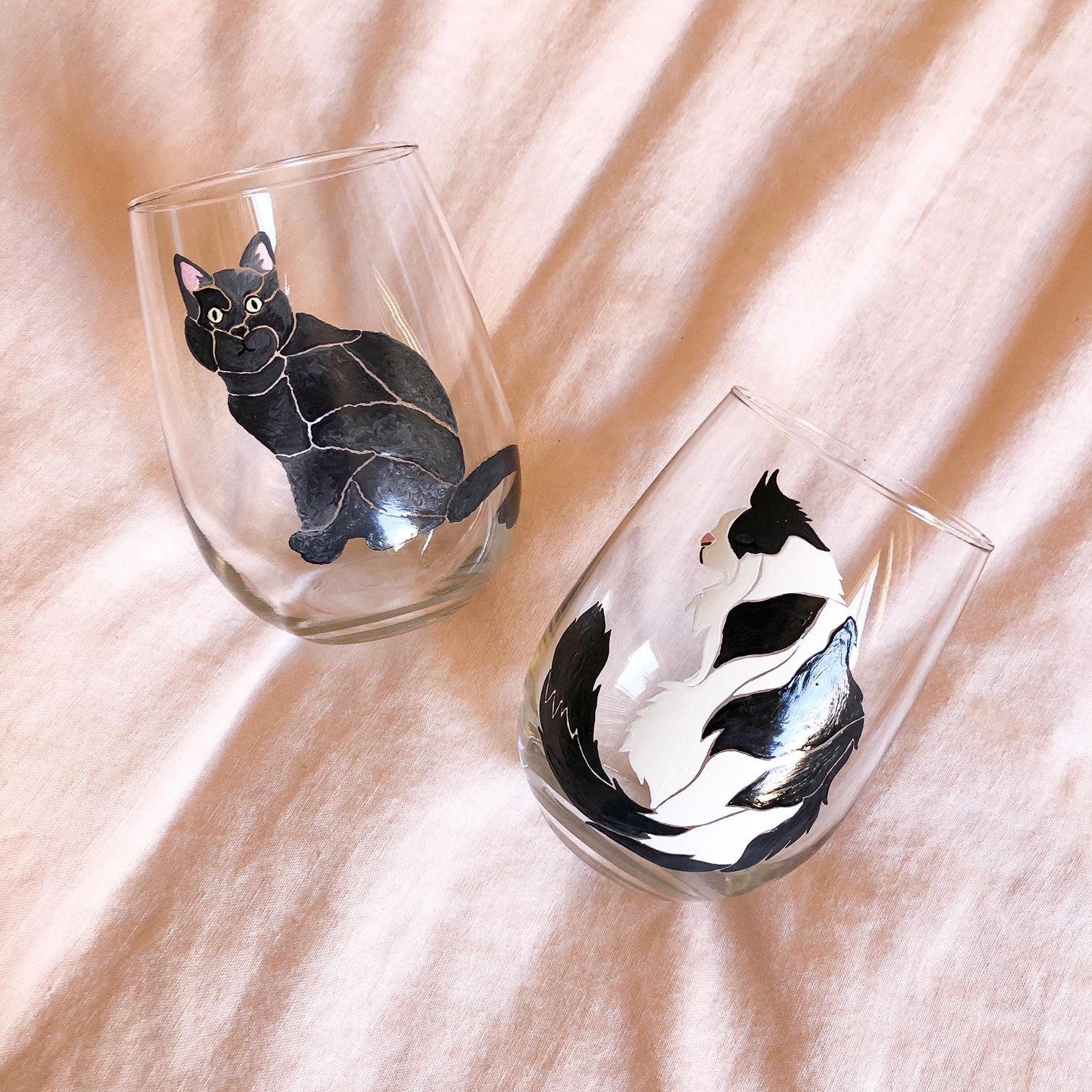 custom_cats_meku_wine_glasses.JPG