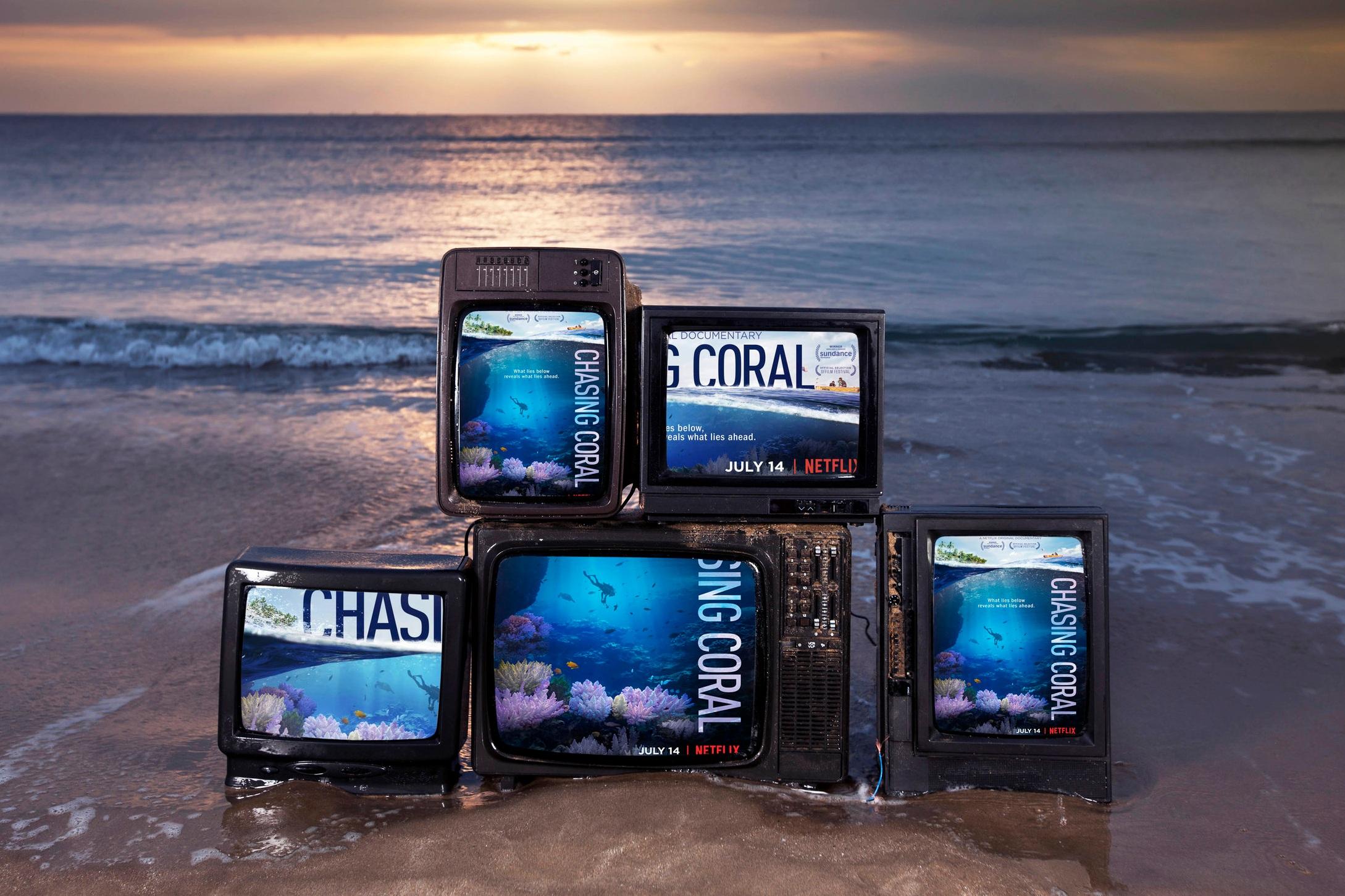 TheOceanAgency -  Netflix ChasingCoral tvs on beach.jpg