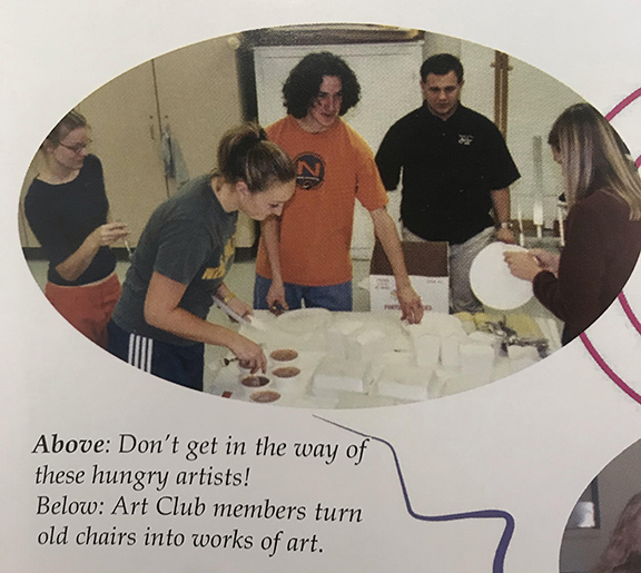 From the archives: 2003 College of Idaho yearbook. I'm rocking my usual ponytail and athletic wear.