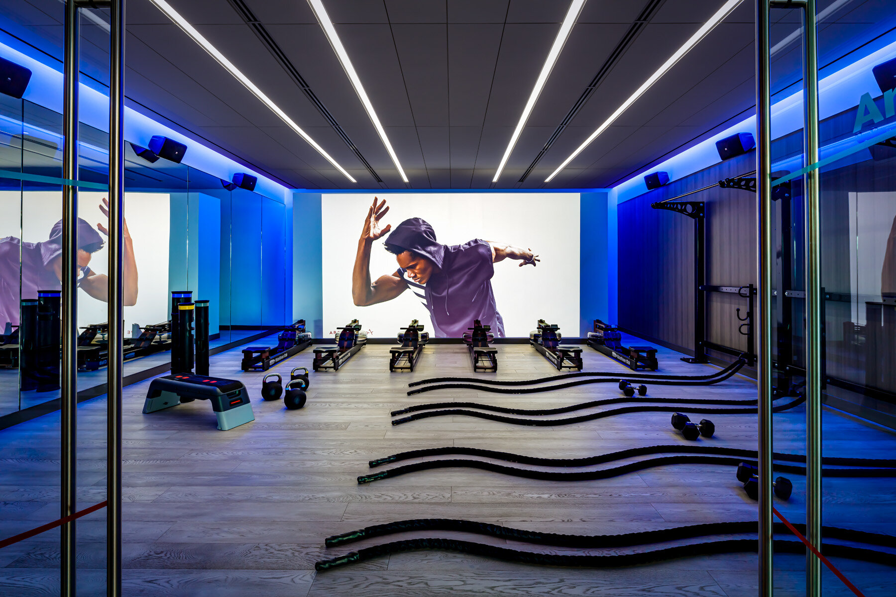 SWEAT TOGETHER - Experience our four intentionally designed studios. With Yoga, HIIT, Spin and Boxing classes, we offer curated fitness experiences to support you in maximizing your true potential.