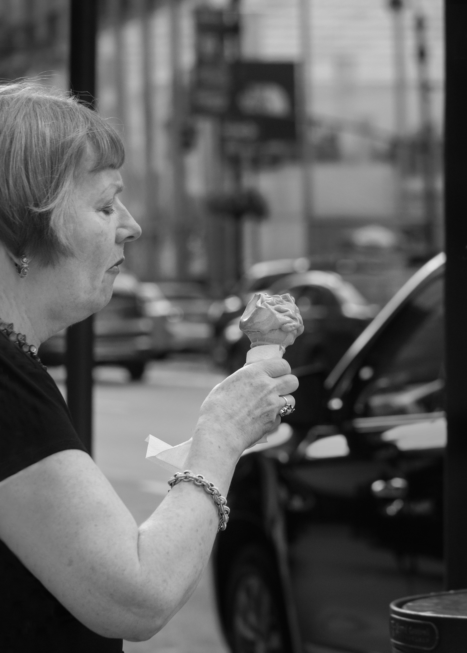 Ice Cream in B&W. Photo by @the_human_journey_ Used with permission. Click picture for a larger image.