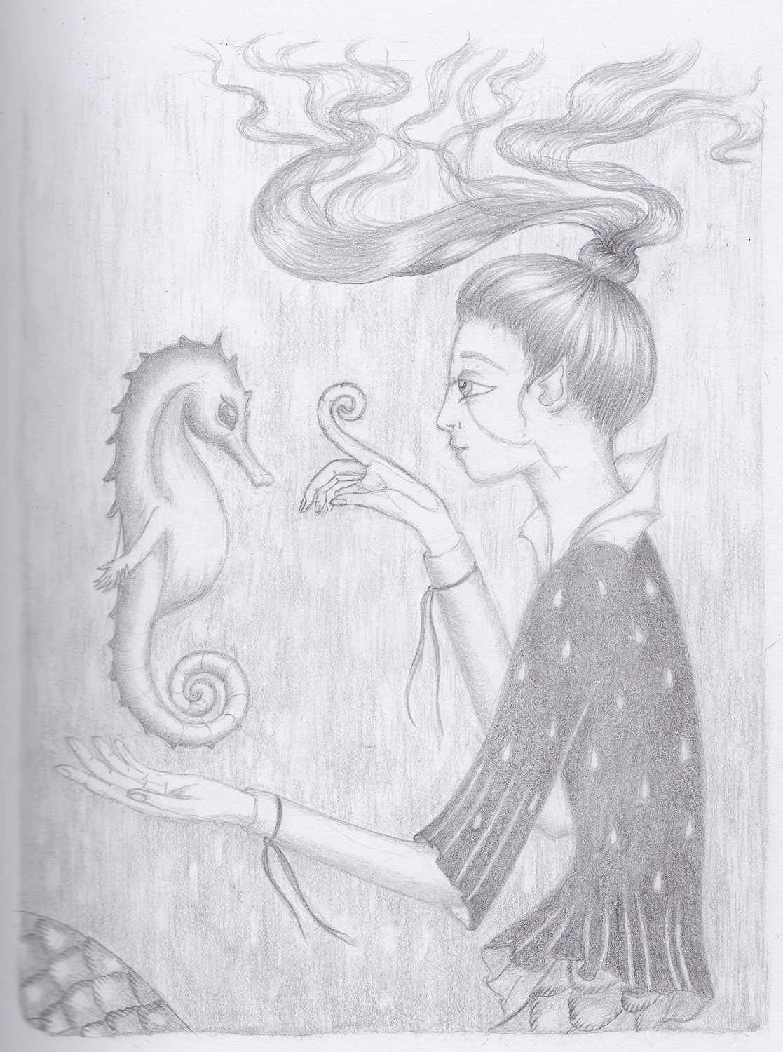 Pencil drawing by Simona Ruggeri. Used with permission.