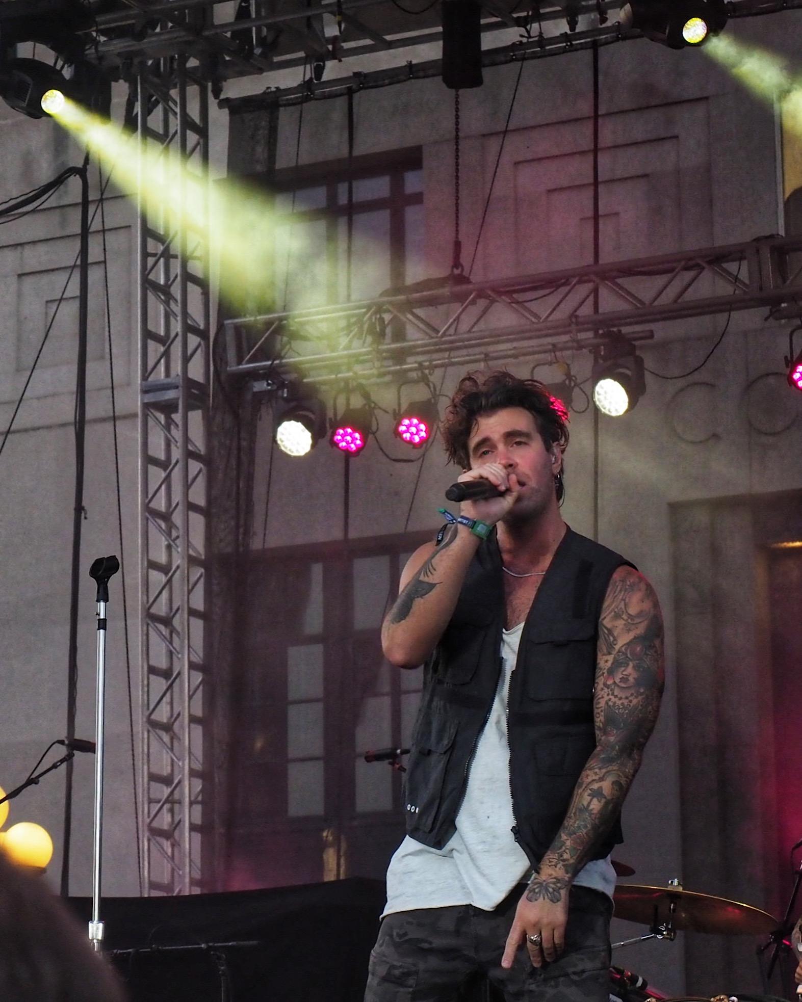 Zac Barnett performing at Live on the Green Music Festival.