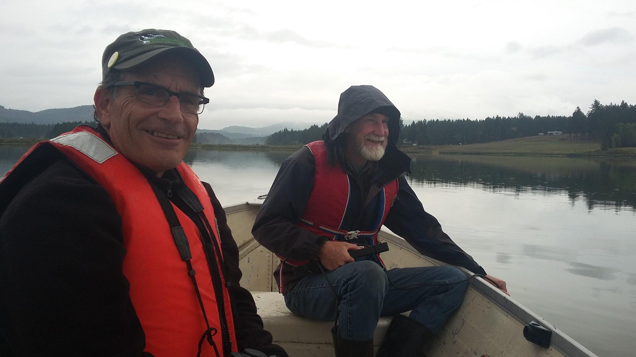 Water quality monitoring on Somenos Lake - Photo by Elizabeth Aitken