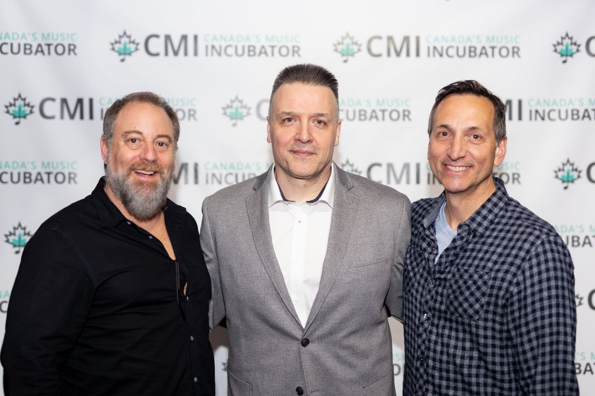 Eric (left), Vel (centre) & Rob (right) during CMI's anniversary party!