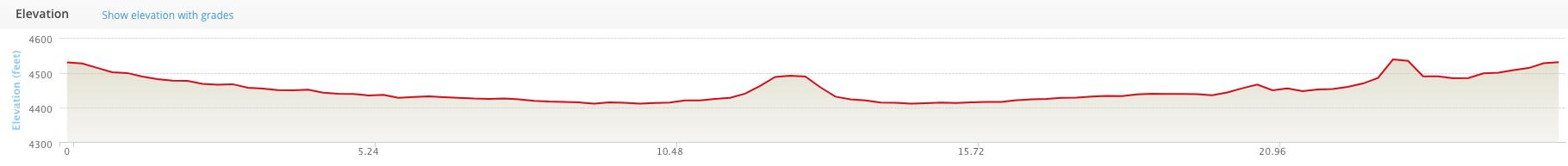 Elevation profile for full marathon