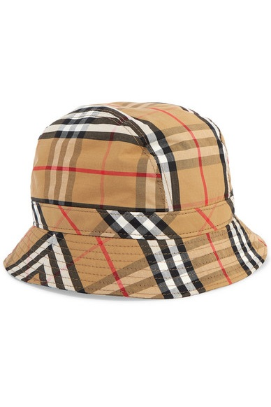 Burberry -  Checked Cotton-Canvas Bucket Hat