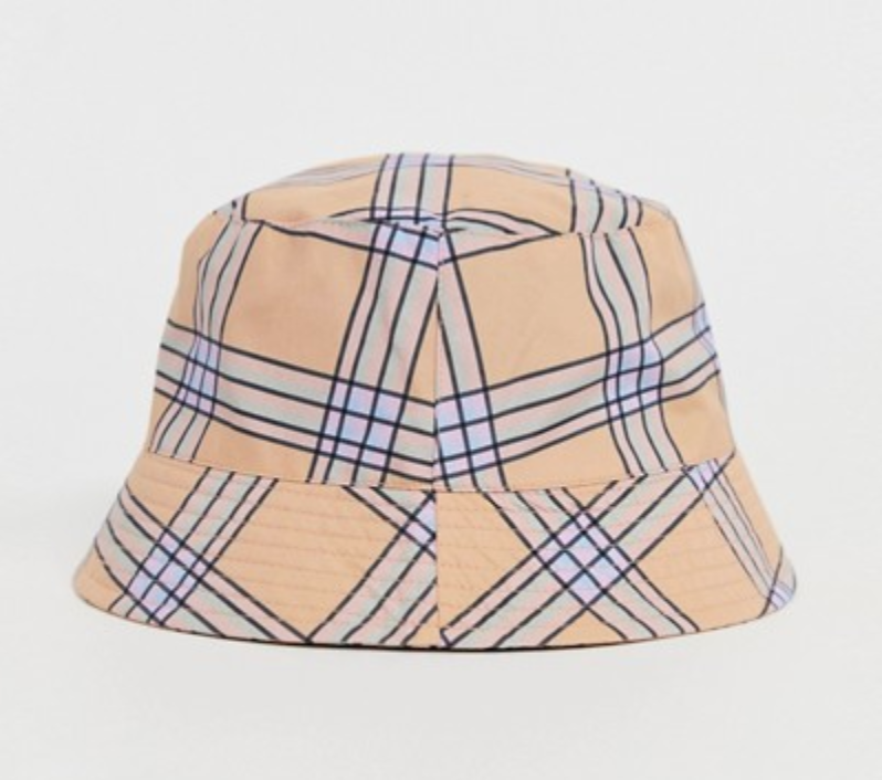 ASOS -  Co-ord Check Bucket Hat