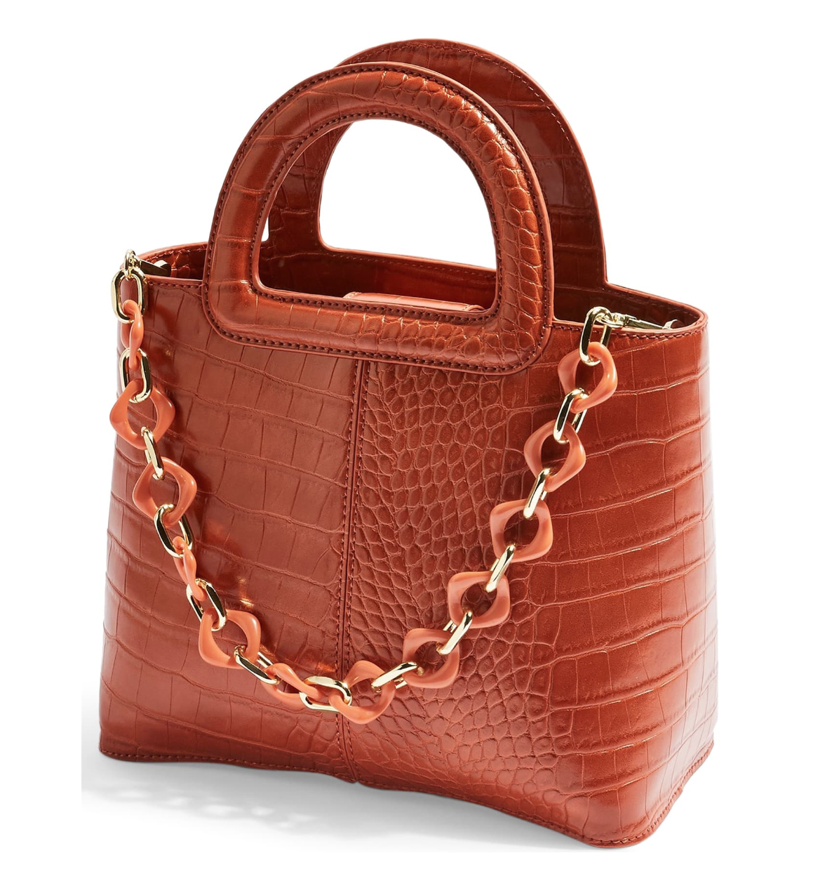Topshop  -  Embossed Faux Leather Satchel  NZD $74.22