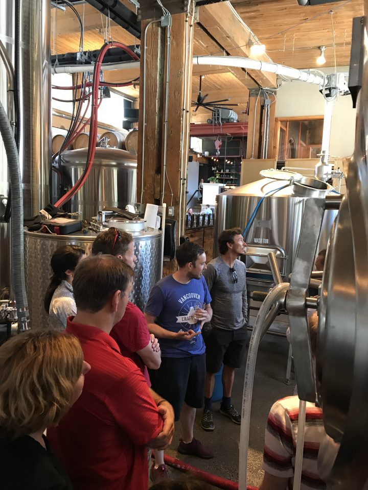 City Cycle's Aspiring Master Brewer, Nick, educating us on the true art of craft brewing.