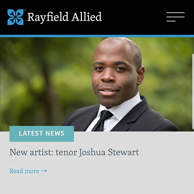 Excited to announce my great new team at @rayfieldallied led by Deborah Sanders! . http://www.rayfieldallied.com/news/2019/new-artist-tenor-joshua-stewart . . . #opera #operasinger #operasingersofinstagram #tenor #voice #vocalist #classicalmusic #music #singer #singers #artist #artists #manager #agent #agency