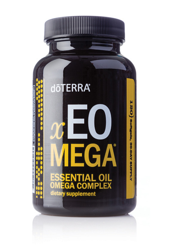 xEO Mega - Essential Oil Omega Complex• Promotes healthy cardiovascular, nervous, and immune system function.• Supports healthy joint function and comfort• Provides important modulating nutrients for healthy immune function• Protects against lipid oxidation and supports healthy function of the brain• Promotes healthy skin• Both marine and plant-sourced omega oils from sustainable sources