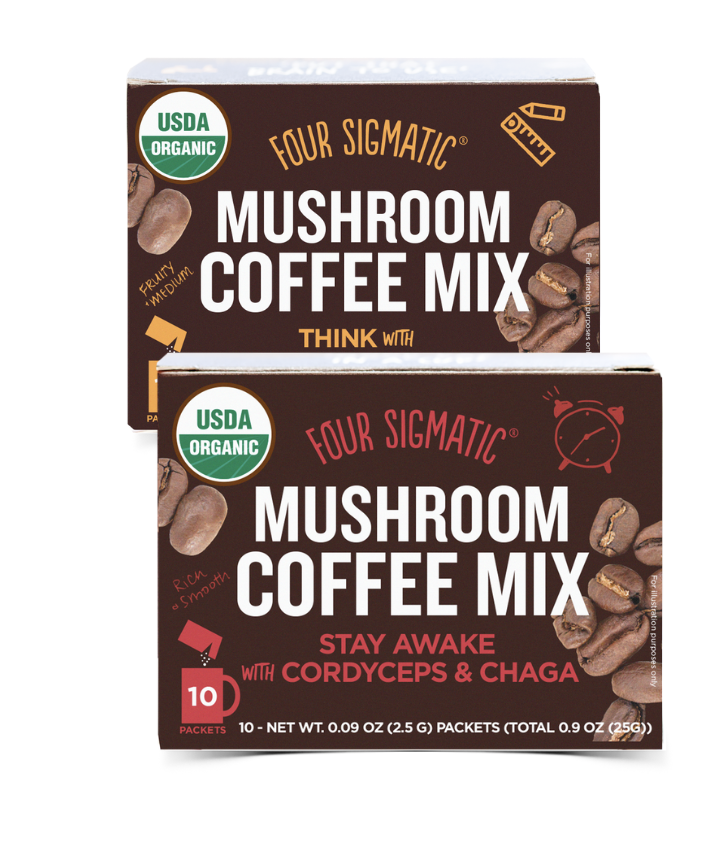 MUSHROOM COFFEE FOR HEALTH - Like stimulation, but not the jitters that come with it? Here's the answer you've been looking for. Coffee is one of the most widely used foods with antioxidant properties, and four sigmatic wanted to give people an easy upgrade for it. Thanks to their favorite functional mushrooms, now you can use coffee to crank up your productivity and support your metabolism without putting strain on your body! And... they taste great with oils too!$14.99 per box Retail | 10% off with code thatcrazyoillady
