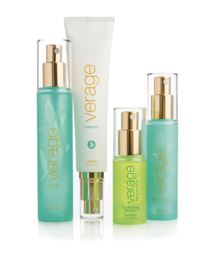 VERÁGE SKIN CARE COLLECTION - The Verage Skin Care Collection contains only the best natural ingredients of doTERRA essential oils, emollients, and plant extracts that will leave skin feeling nourished and hydrated while encouraging confidence through reduced signs of visible aging.$112.66 Retail | $84.50 Wholesale