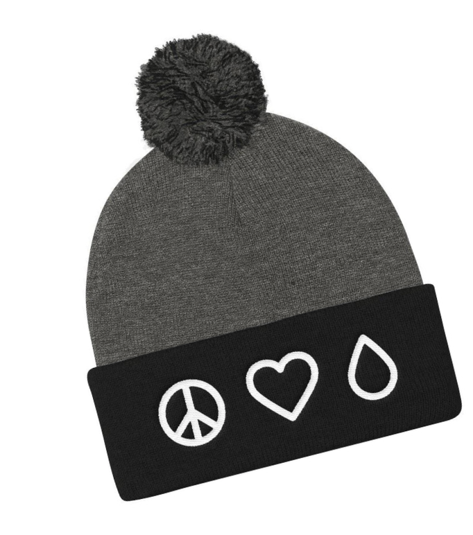 BEANIE - PEACE • LOVE • OIL - Peace • Love • Oils in symbols High-quality embroideryTHE BEANIE: Messy hair, don't care when you have a cute oil themed beanie! One Size, 100% Acrylic, Soft, comfortable fit (not super tight for the average size head) Hand washable, Length: Approx. 12