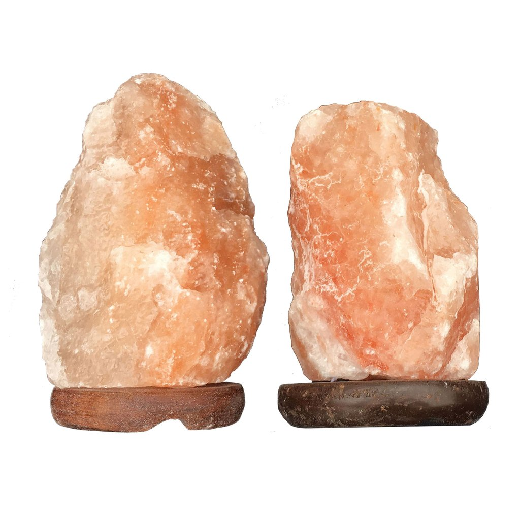 TWO SMALL HIMALAYAN SALT LAMPS - Himalayan Salt Lamps are said to release negative salt ions by heating. This can boost blood flow, improve sleep, increase levels of serotonin in the brain, and calm allergy or asthma symptoms.The Himalayan Salt Lamps release their special properties through the introduction of heat. These special properties, such as negative ions, are responsible for promoting the health and wellness of individuals. Individuals can breathe more easily and many ailments and allergies that frequently afflict them start to disappear.$19.99 Retail | your woo-woo bestie will love this!
