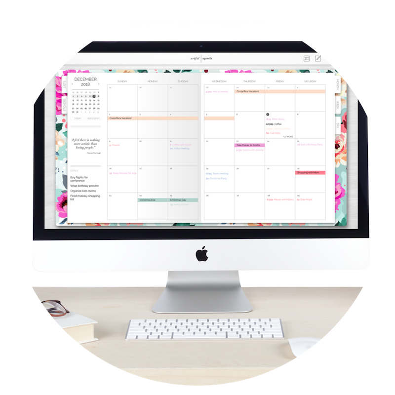 Artful Agenda - A smart and stylish digital calendar inspired by paper agendas! I love how this syncs with your Google Calendars and iCal so seamlessly! Use code RD1191