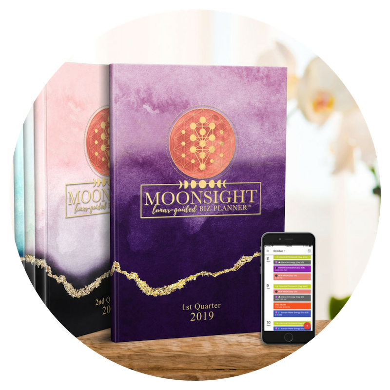 Moonsight Planner - Planning, launching and scheduling your business by the moon means there is time for everything! Welcome To The Planning System of The Future.