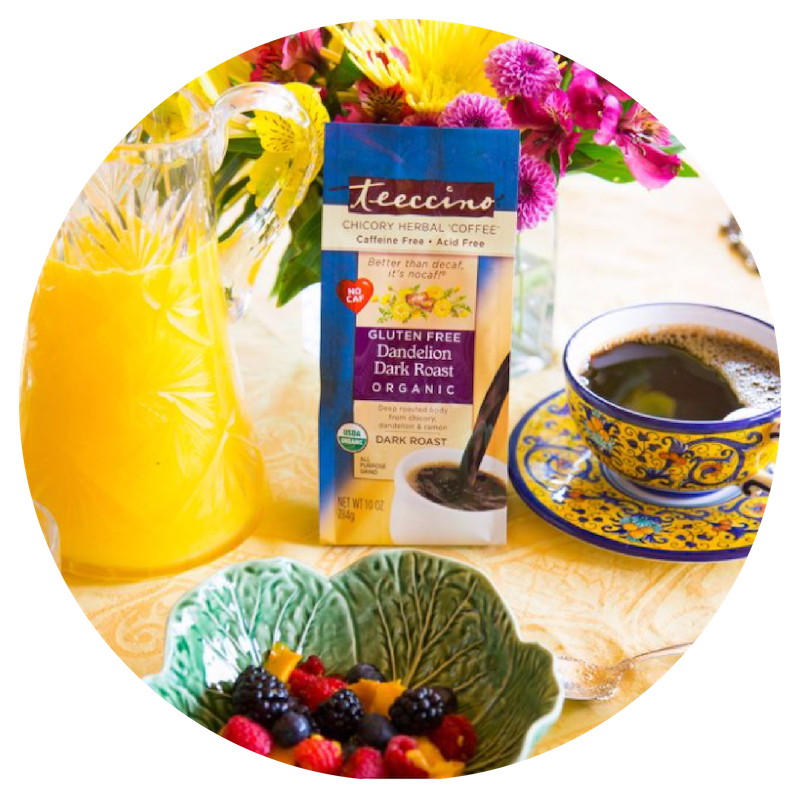 Teeccino - Teeccino Herbal Coffees and Herbal Teas have rich bold flavor from a delicious blend of roasted herbs, roots, fruits and nuts that can be brewed like coffee or steeped like tea. It's better than decaf, its NO caf! 10% off with code healthyliving2019
