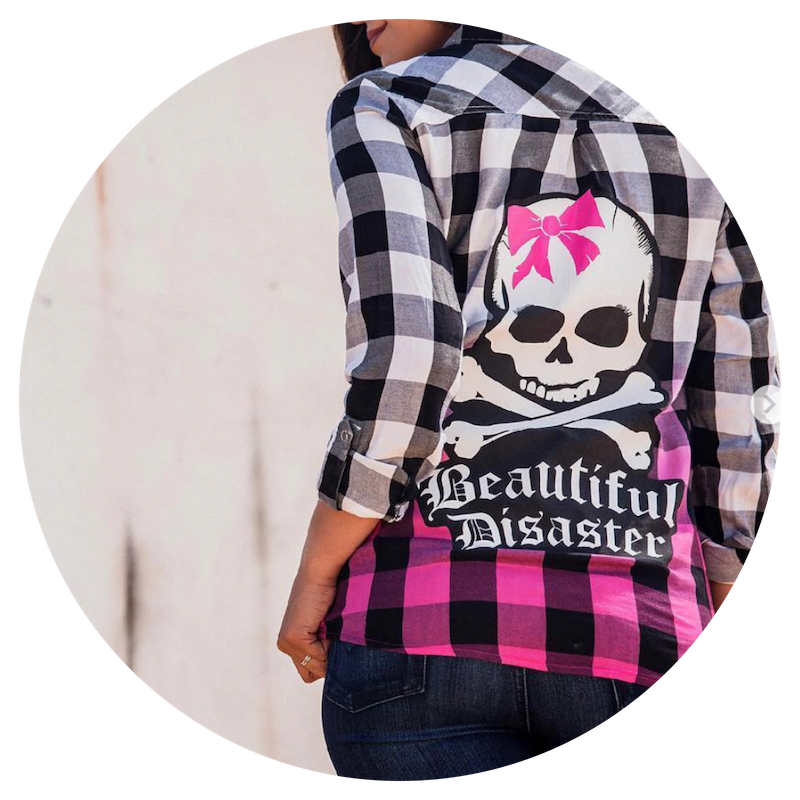 Beautiful Disaster - With every fiber of clothing it is Beautiful Disaster's mission to empower the Beautifully Broken and Perfectly Imperfect. Embrace yourself with their empowering designs!