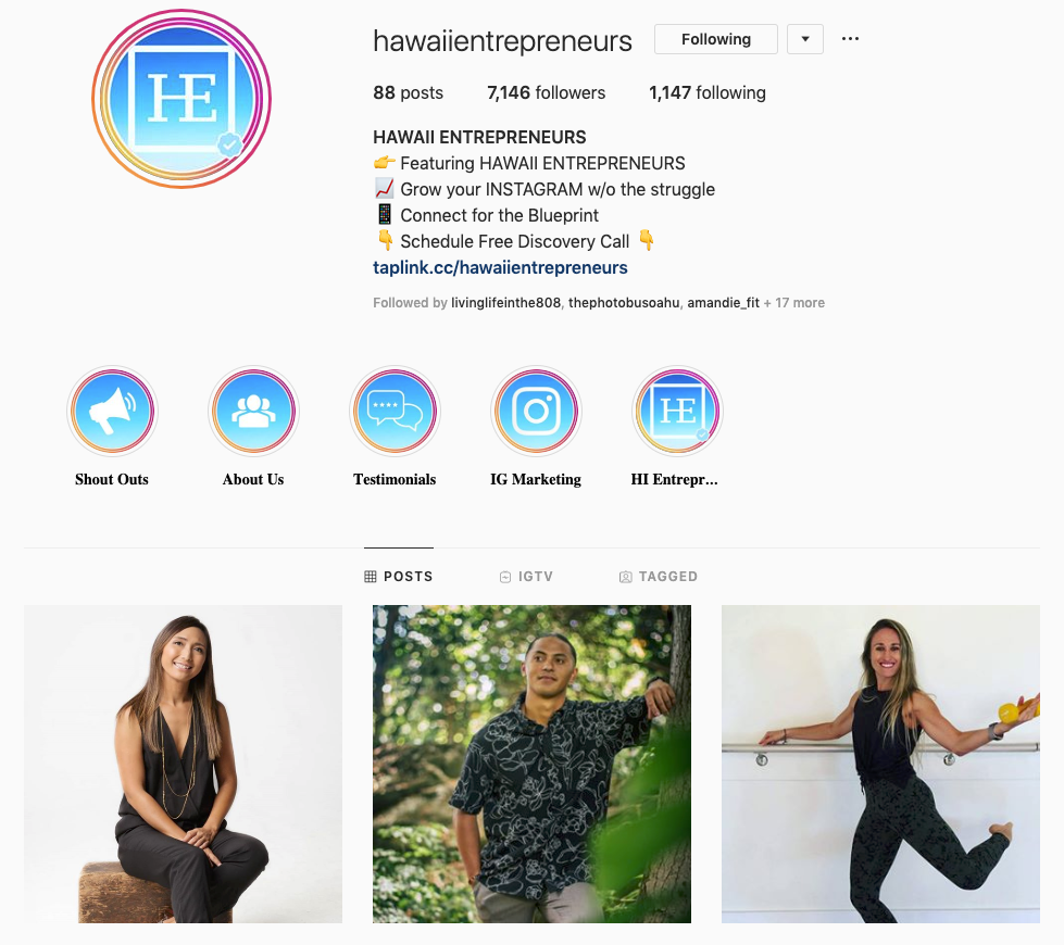Hawaii Entrepreneur IG