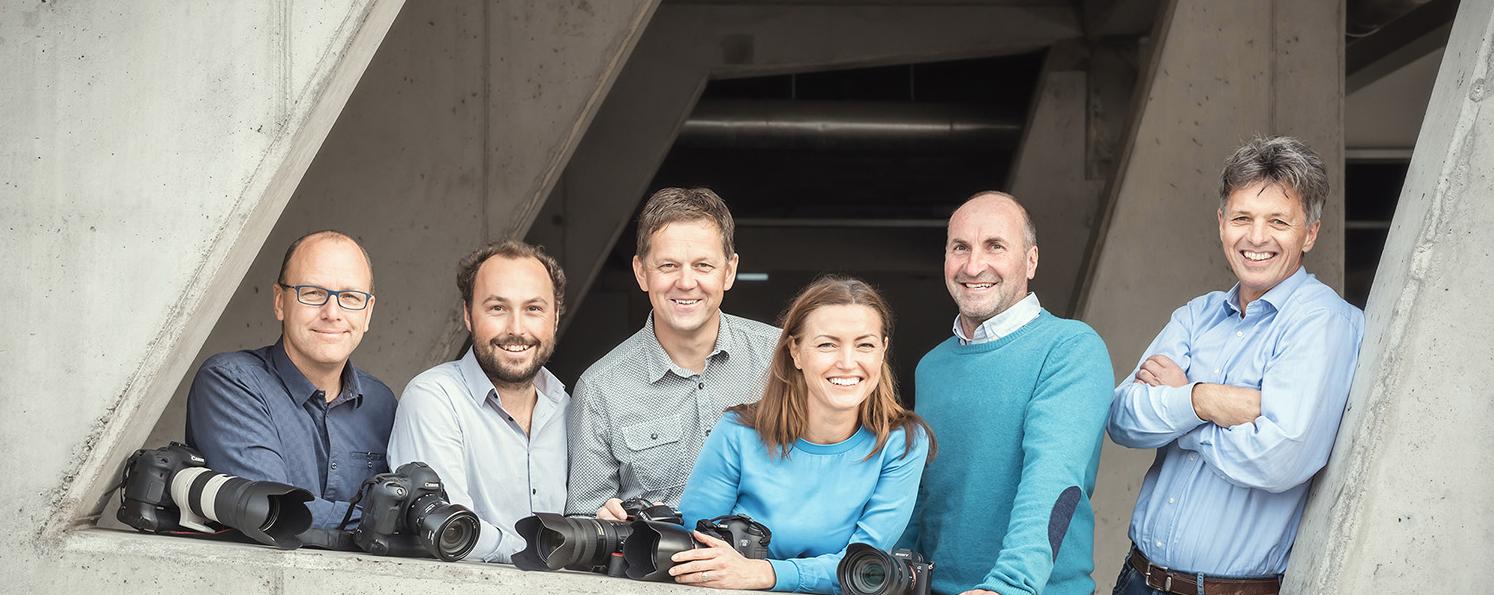Team Photo-Austria, Bildagentur, vlnr: Martin Huber, Christoph Huber, Hans-Peter Steiner, Christine Höflehner , Hans Simonlehner, Herbert Raffalt