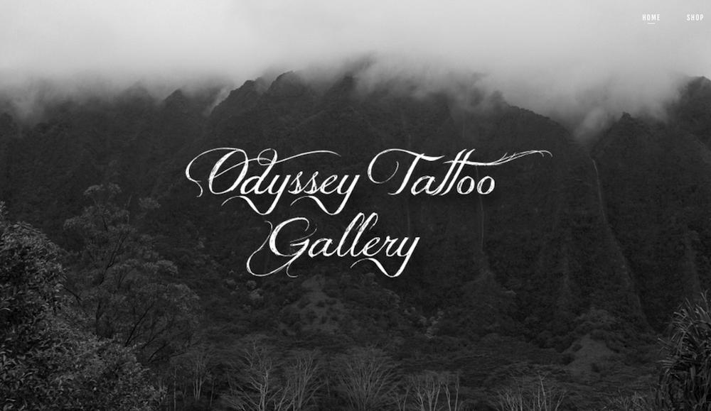 Odyssey Tattoo - Site Setup & Customization, Image Curation, Photography