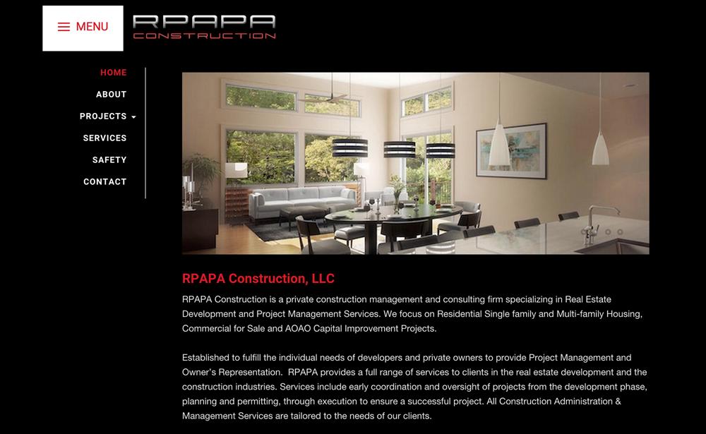 RPAPA Construction - Site Setup, Customization & Management