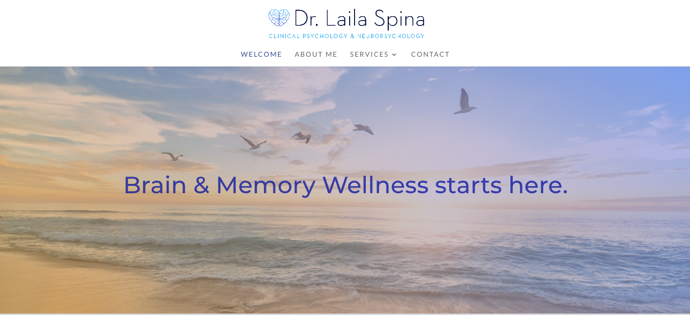 Dr. Laila Spina - Site Setup & Customization, Image Curation, Photography