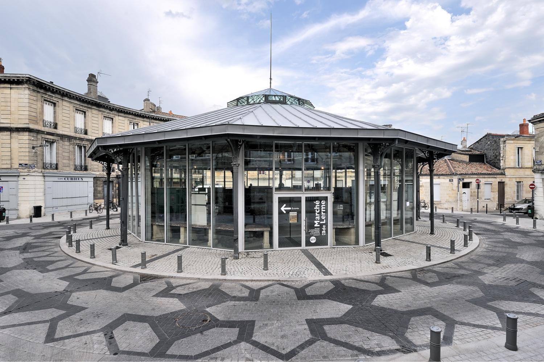 Réhabilitation du Marché de Lerme à Bordeaux, Aquitaine, France  Rénovation patrimoniale d'une halle métallique  Espace culturel et associatif  Prix du geste d'or - Rénovation remarquable