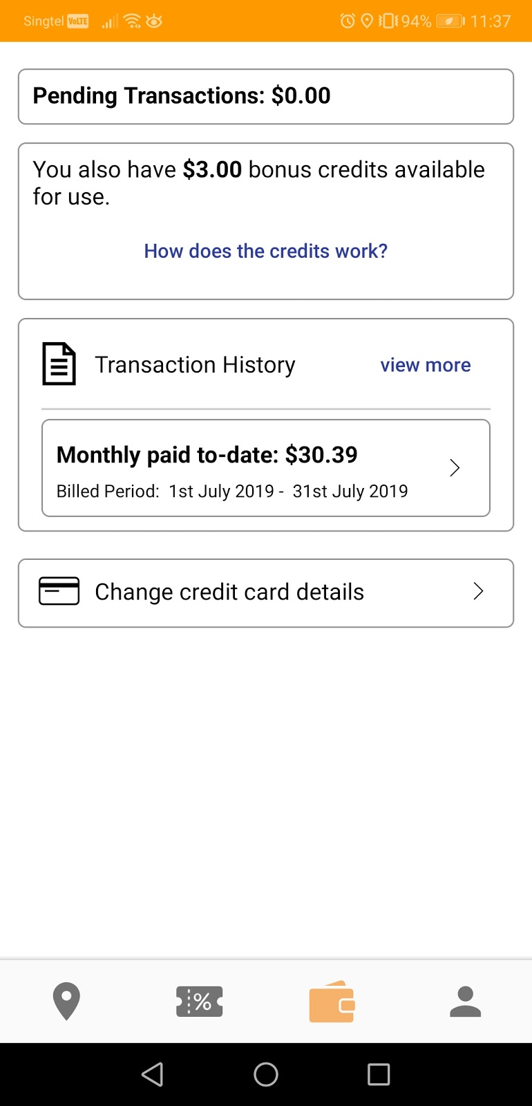 Payment - We've simplified the UI so that it takes just one glance to understand how much you have spent on transport this month and what the upcoming payment is. All your travels on Zipster are now postpaid with your linked credit card, that means no more hassle topping up in your Zipster account.