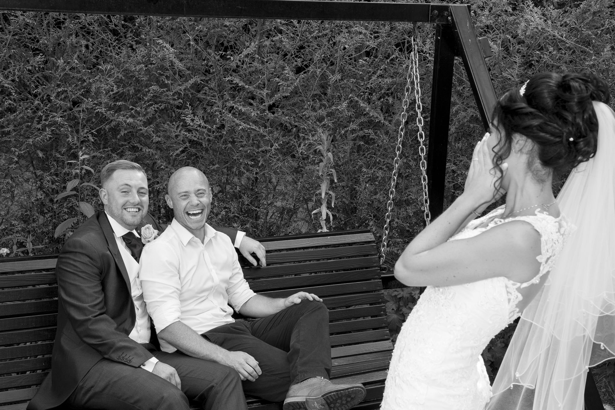 Me and my Brides & Grooms always have a laugh on the big day. Here's me showing Gabby & Ryan a pose.
