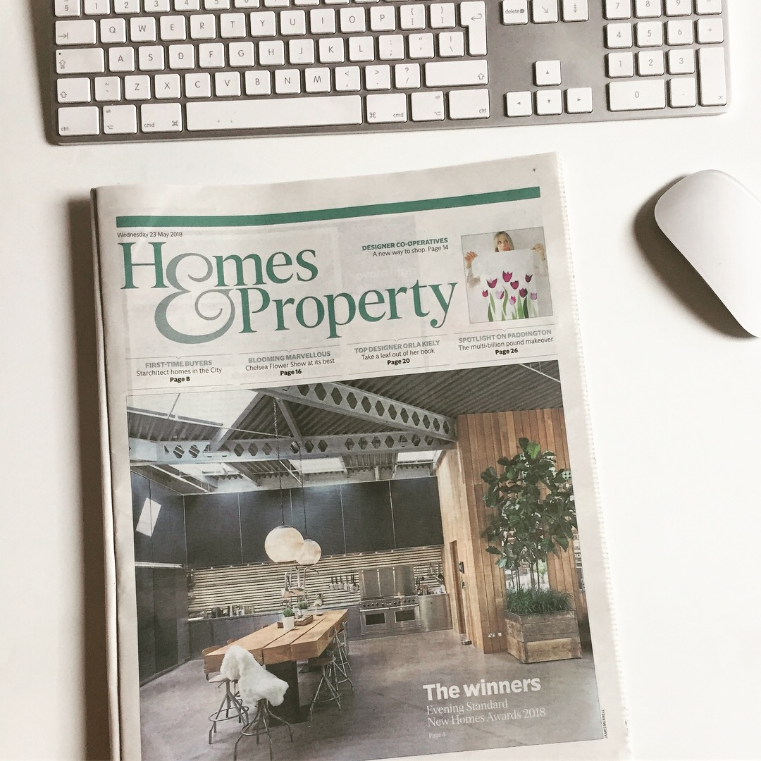 Evening Standard, Homes & Property, May 2018 -
