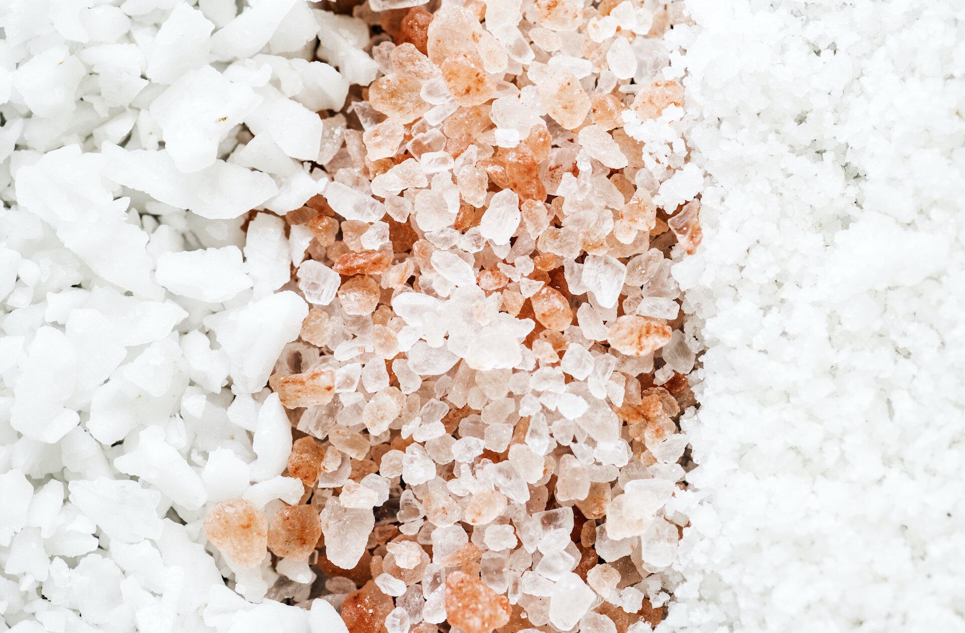 Closeup of mixed salt