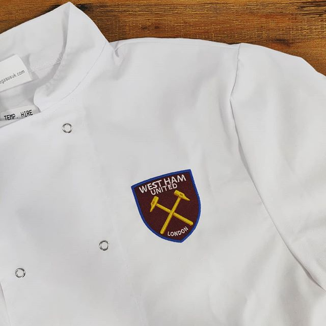 ⚽West Ham⚽ A batch of chefs jackets for West Ham that left is recently 📈 . . . Get in touch for a quote today: 📞01730 268 884 📩info@tecpromotions.co.uk 🖥tecpromotions.co.uk  ____  #TECpromotions #customembroidery #embroideredclothing #embroidery #embroideredshirt #embroideredtshirt #embroiderywork #printing #clothing #embroideredshirts #embroideryshop #embroiderycompany  #corporateclothing #workwear #brand #brandedclothing #printshop #customprinting #screenprinting #screenprint #screenprinted #screenprintinguk #screenprintshop #screenprintingservice #custommerch #custommerchandise #customapparel #tshirtprinting #uktshirtprinting #printedclothing