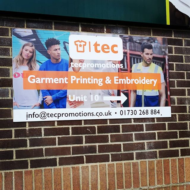 We've only gone and got a new sign 🙌😱 . . . Get in touch for a quote today: 📞01730 268 884 📩info@tecpromotions.co.uk 🖥tecpromotions.co.uk  ____  #TECpromotions #customembroidery #embroideredclothing #embroidery #embroideredshirt #embroideredtshirt #embroiderywork #printing #clothing #embroideredshirts #embroideryshop #embroiderycompany  #corporateclothing #workwear #brand #brandedclothing #printshop #customprinting #screenprinting #screenprint #screenprinted #screenprintinguk #screenprintshop #screenprintingservice #custommerch #custommerchandise #customapparel #tshirtprinting #uktshirtprinting #printedclothing