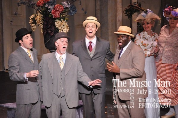 As part of the quartet in  The Music Man