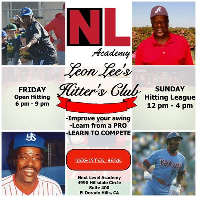 Come learn from a PRO! ONLY at Next Level Academy! Friday night Open Hitting/Sunday Afternoon Hitting League...Sign up online!