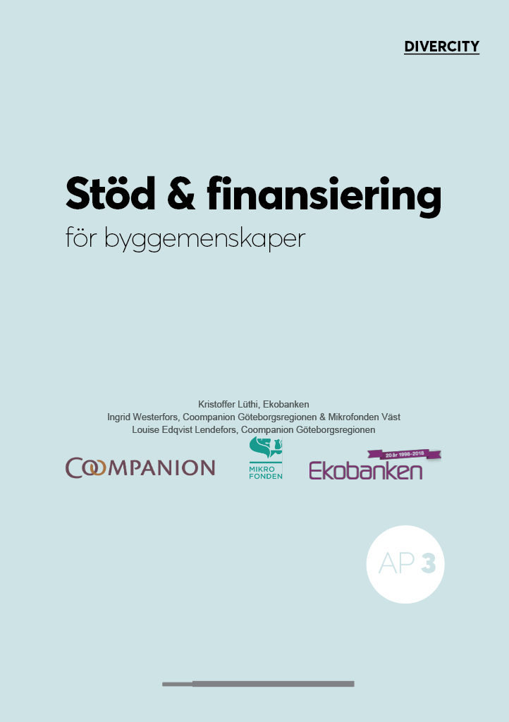 Stöd och finansiering för byggemenskaper. 2019