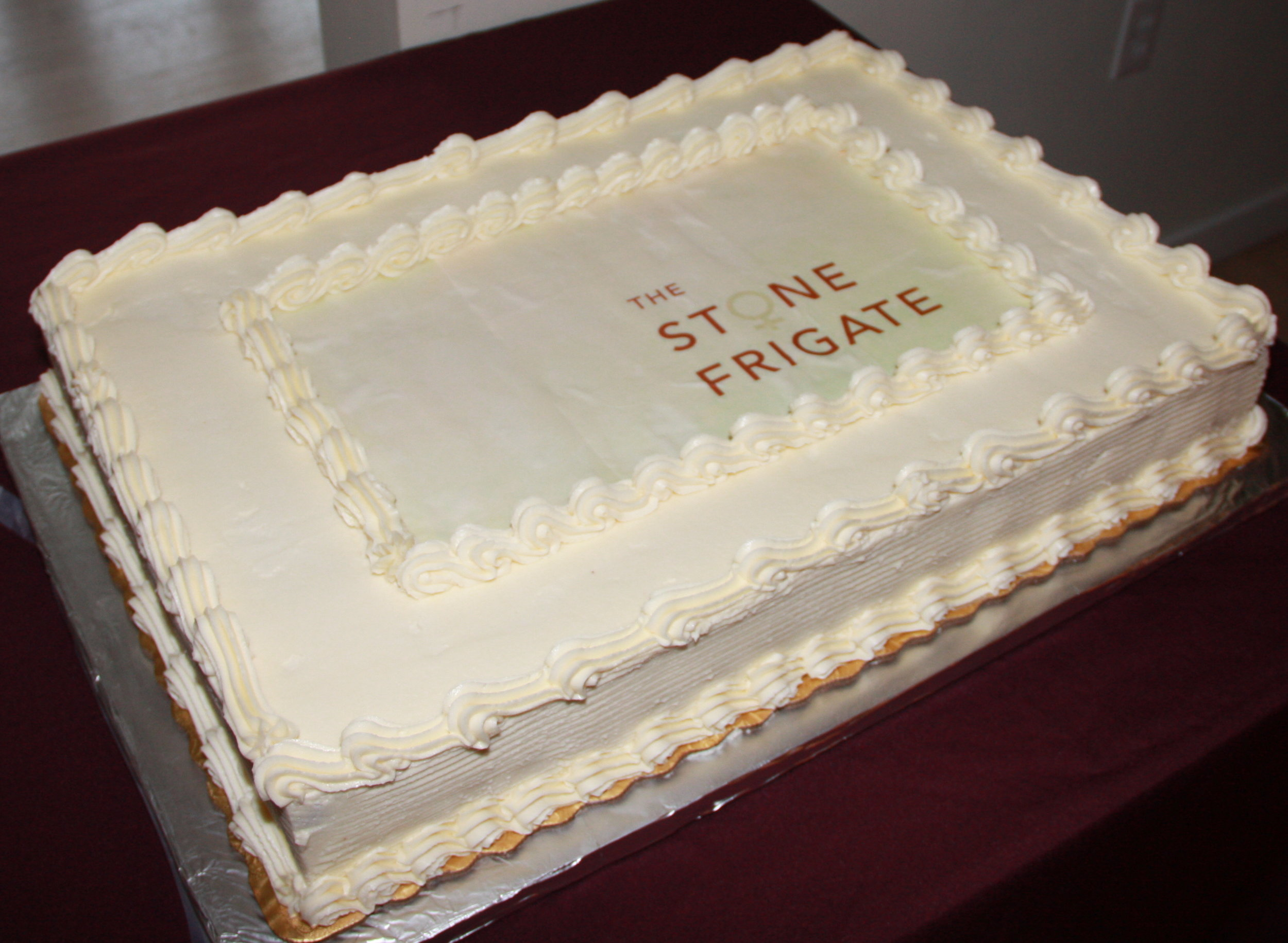 A special order Tuxedo cake was served up during the 'social' afterwards.