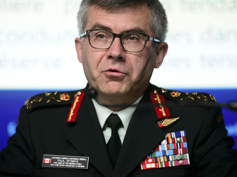Lieutenant-General Paul Wynnyk, Vice Chief of the Defence Staff, speaks during a press conference to address the findings in the 2018 Statistics Canada Survey on Sexual Misconduct in the Canadian Armed Forces, May 22, 2019. Sean Kilpatrick/The Canadian Press/File