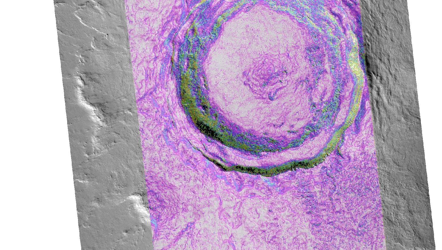 crater NE of Ascraeus Mons with CTX DTM