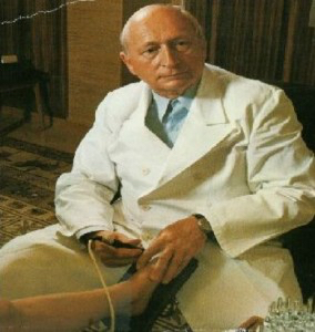 Dr. Reinold Voll developed a device in the 1950's that measured the skin's resistance at acupuncture points and found that each point had a standard measurement for healthy people.