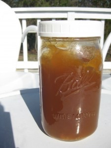 Jar of gut-healing meat stock